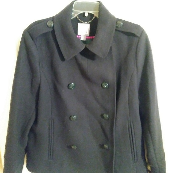 jcpenney Jackets & Blazers - Navy Blue JCP XL Womwns Wool Blend Pea coat